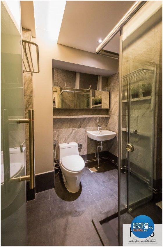 Modern Design - Bathroom - HDB 5 Room - Design by Fatema Design Studio