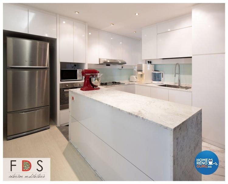 Modern Design - Kitchen - HDB Executive Apartment - Design by Fatema Design Studio