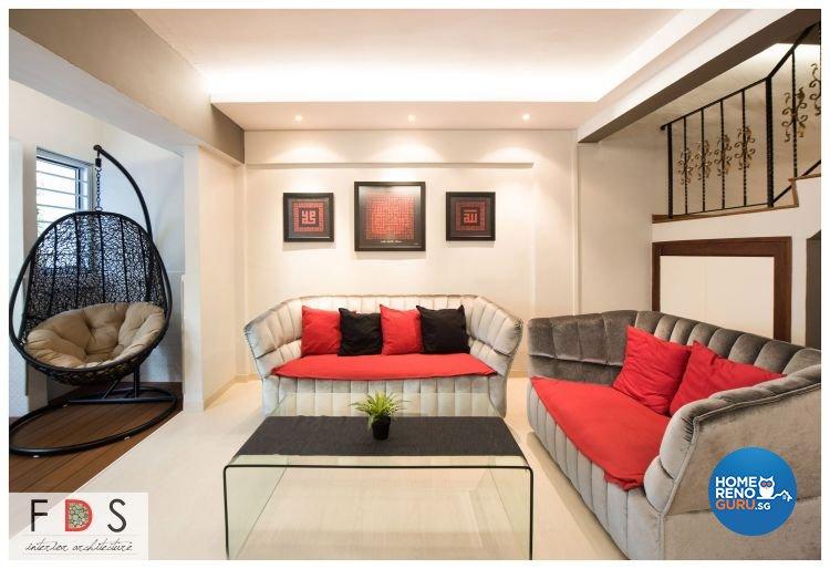 Modern Design - Living Room - HDB Executive Apartment - Design by Fatema Design Studio