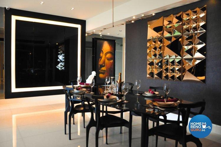 Contemporary, Modern Design - Dining Room - Condominium - Design by Fide Living Pte Ltd