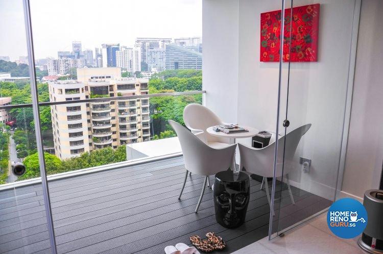Contemporary, Modern Design - Balcony - Condominium - Design by Fide Living Pte Ltd