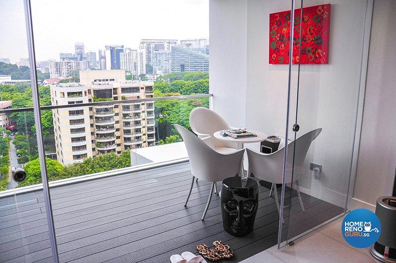 Contemporary Design - Balcony - Condominium - Design by Fide Living Pte Ltd