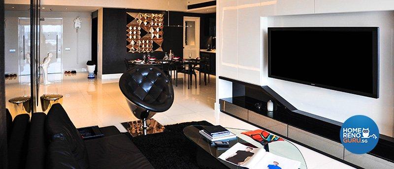 Contemporary Design - Living Room - Condominium - Design by Fide Living Pte Ltd