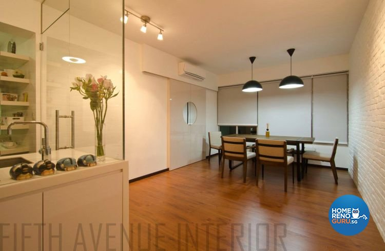 Minimalist, Modern Design - Dining Room - HDB Executive Apartment - Design by Fifth Avenue Interior Design