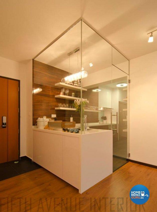 Minimalist, Modern Design - Kitchen - HDB Executive Apartment - Design by Fifth Avenue Interior Design
