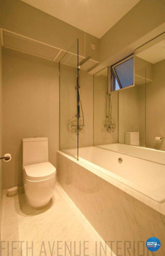 Minimalist, Modern Design - Bathroom - HDB Executive Apartment - Design by Fifth Avenue Interior Design