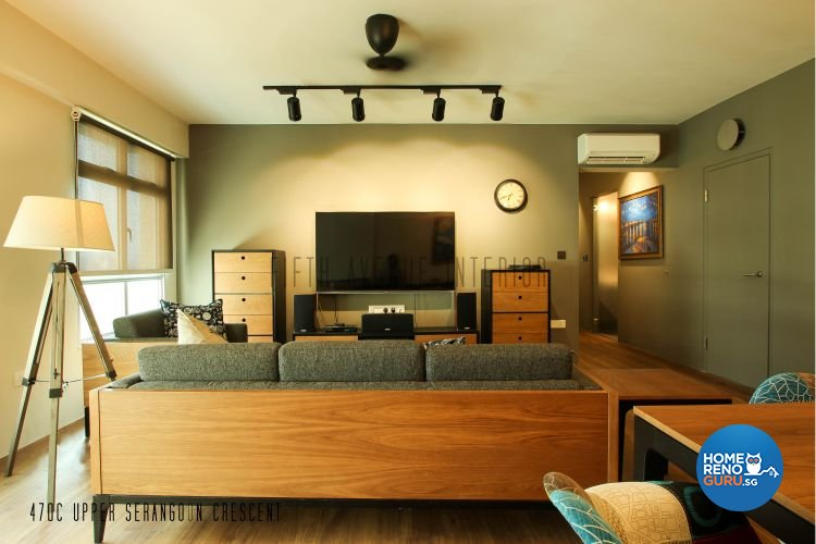 Contemporary, Modern Design - Living Room - HDB 4 Room - Design by Fifth Avenue Interior Design