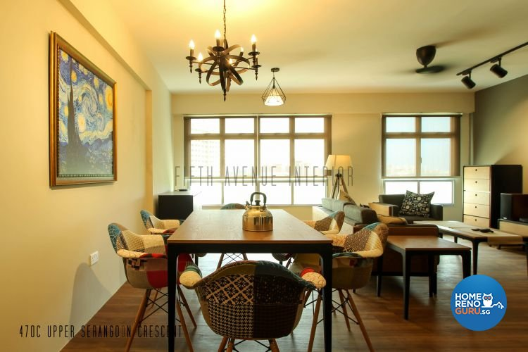 Contemporary, Modern Design - Dining Room - HDB 4 Room - Design by Fifth Avenue Interior Design