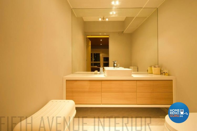 Minimalist, Modern Design - Bathroom - HDB 4 Room - Design by Fifth Avenue Interior Design