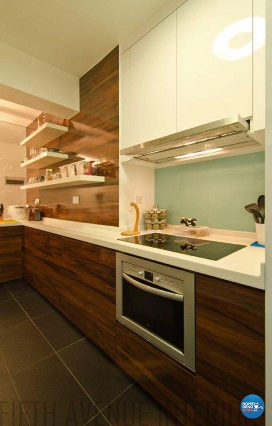 Minimalist, Modern Design - Kitchen - HDB 4 Room - Design by Fifth Avenue Interior Design