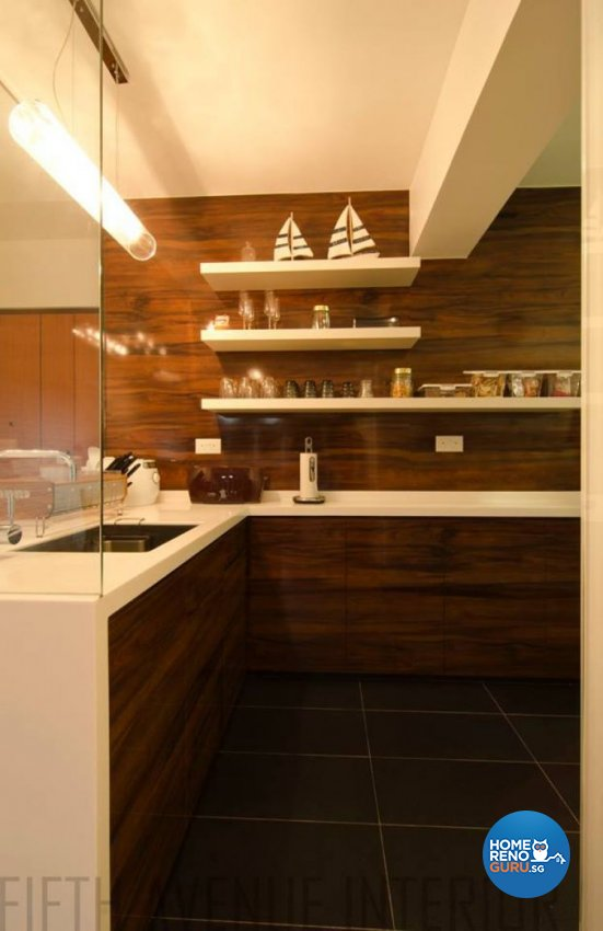 Minimalist, Modern Design - Kitchen - HDB 4 Room - Design by Fifth Avenue Interior Design
