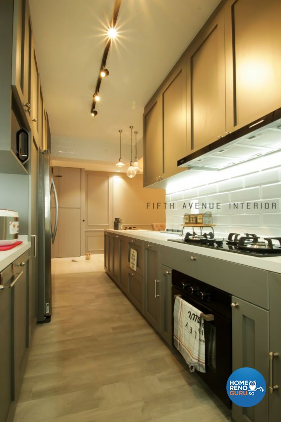 Classical, Modern Design - Kitchen - HDB 4 Room - Design by Fifth Avenue Interior Design