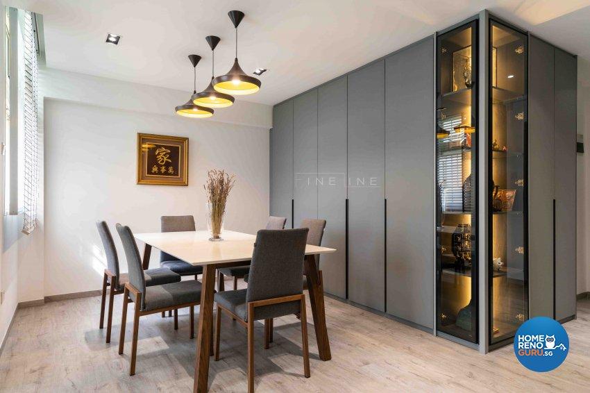 Contemporary Design - Dining Room - HDB 5 Room - Design by Fineline Design Pte Ltd