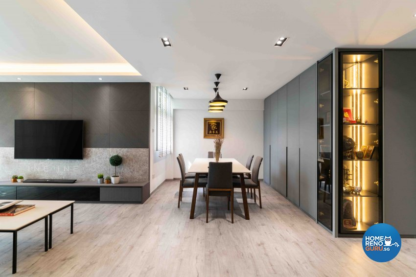 Contemporary Design - Dining Room - HDB 5 Room - Design by Fineline Design Pte Ltd