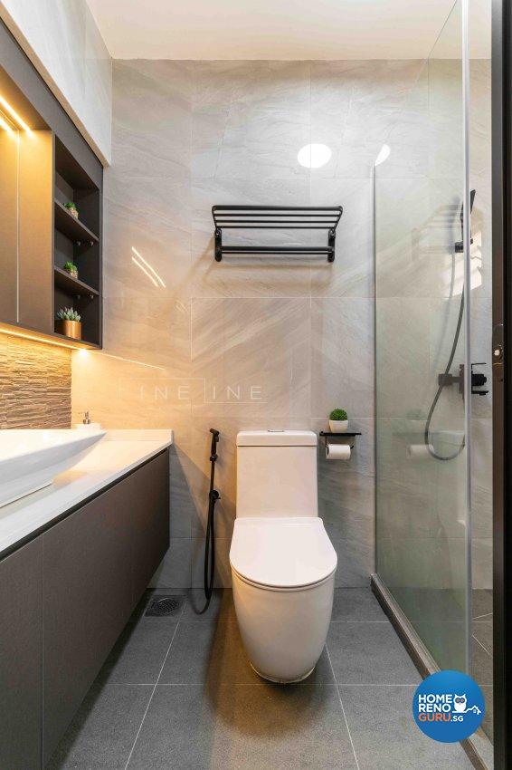 Contemporary Design - Bathroom - HDB 5 Room - Design by Fineline Design Pte Ltd