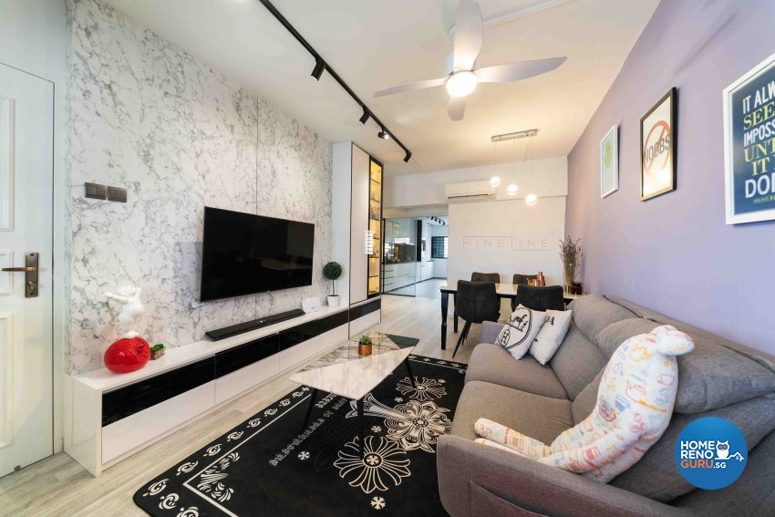 Classical, Others Design - Living Room - HDB 3 Room - Design by Fineline Design Pte Ltd