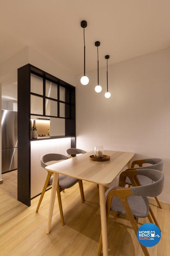 Modern, Scandinavian Design - Dining Room - HDB 3 Room - Design by Fineline Design Pte Ltd
