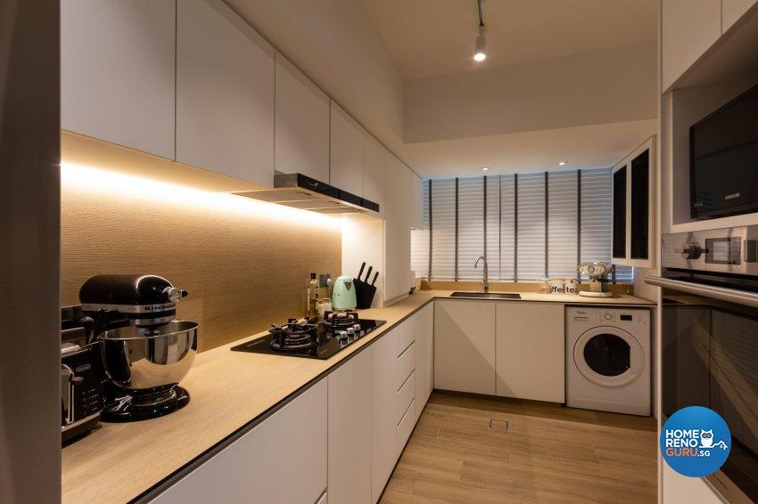 Modern, Scandinavian Design - Kitchen - HDB 3 Room - Design by Fineline Design Pte Ltd