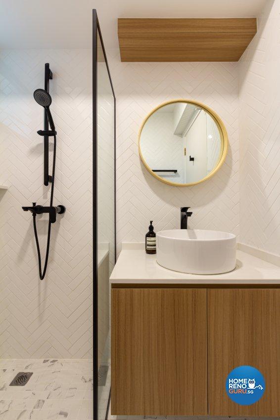 Modern, Scandinavian Design - Bathroom - HDB 3 Room - Design by Fineline Design Pte Ltd