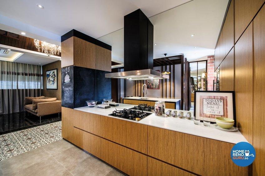 Contemporary, Eclectic Design - Kitchen - Office - Design by Fineline Design Pte Ltd