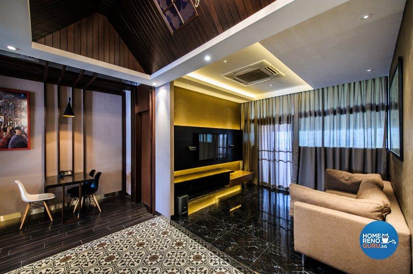 Contemporary, Eclectic Design - Living Room - Office - Design by Fineline Design Pte Ltd