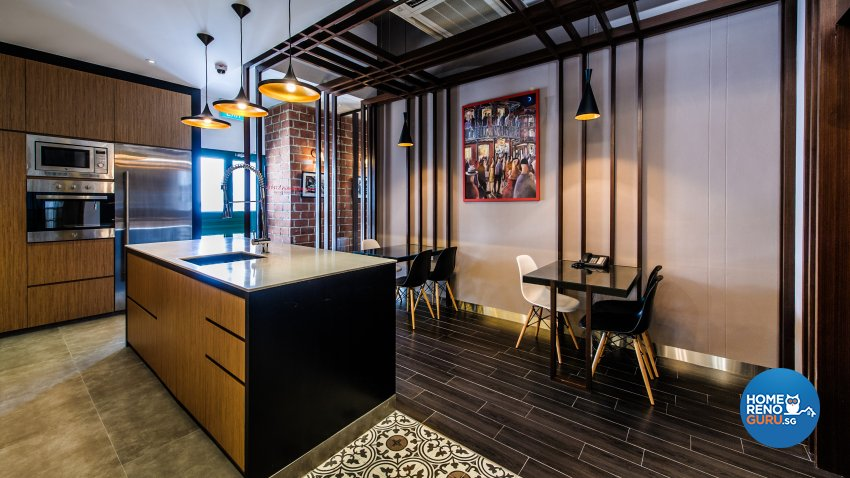 Contemporary, Eclectic Design - Dining Room - Office - Design by Fineline Design Pte Ltd