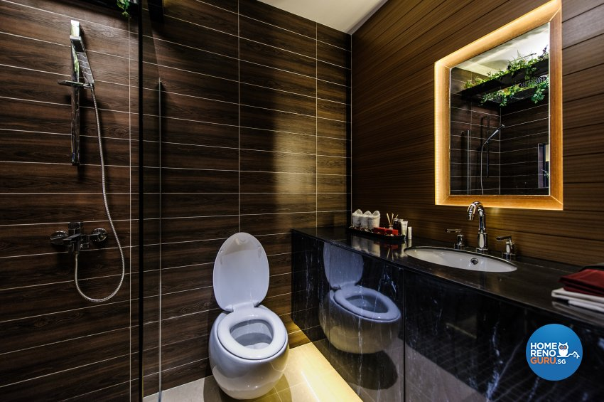 Contemporary, Eclectic Design - Bathroom - Office - Design by Fineline Design Pte Ltd