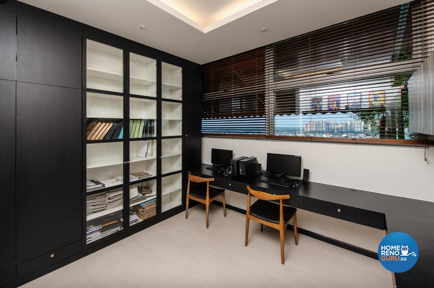 Contemporary, Eclectic Design - Study Room - Office - Design by Fineline Design Pte Ltd