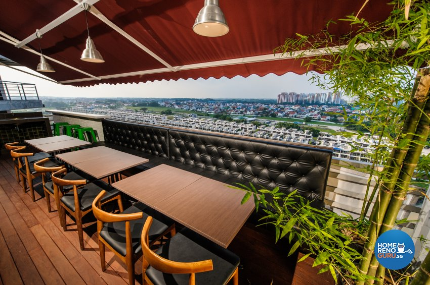 Contemporary, Eclectic Design - Balcony - Office - Design by Fineline Design Pte Ltd