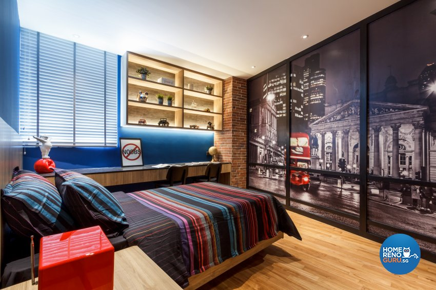 Contemporary, Eclectic Design - Bedroom - Office - Design by Fineline Design Pte Ltd