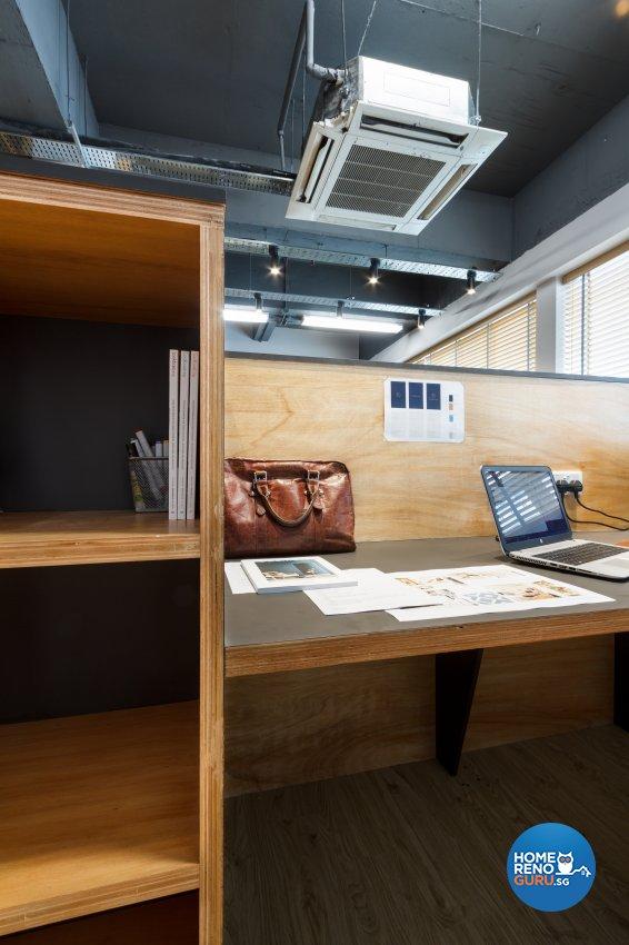 Contemporary, Eclectic Design - Study Room - Office - Design by Fineline Design Pte Ltd