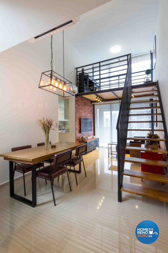 Industrial, Modern Design - Dining Room - Condominium - Design by Fineline Design Pte Ltd