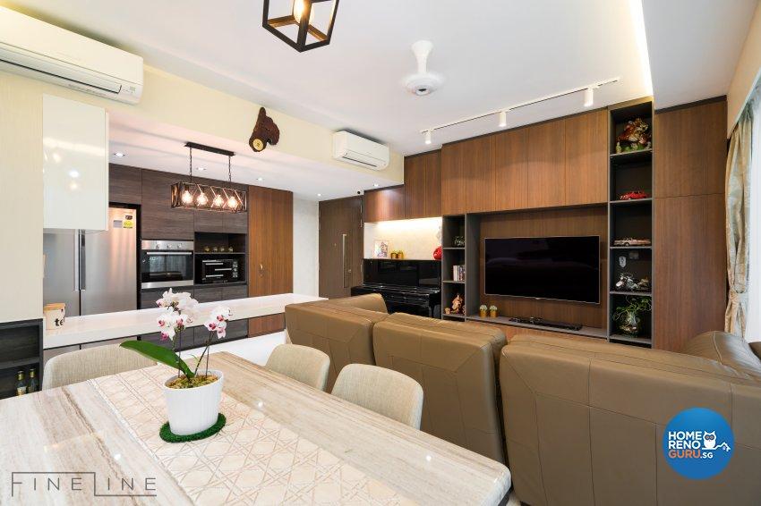 Contemporary Design - Living Room - Condominium - Design by Fineline Design Pte Ltd
