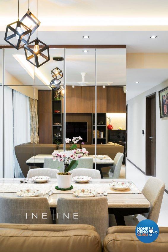 Contemporary Design - Dining Room - Condominium - Design by Fineline Design Pte Ltd