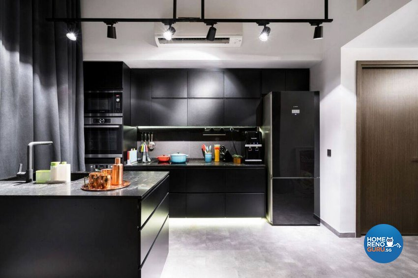 Modern, Rustic Design - Kitchen - Condominium - Design by Fineline Design Pte Ltd