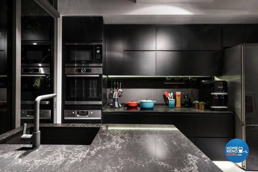 Modern, Rustic Design - Kitchen - Condominium - Design by Fineline Design Pte Ltd