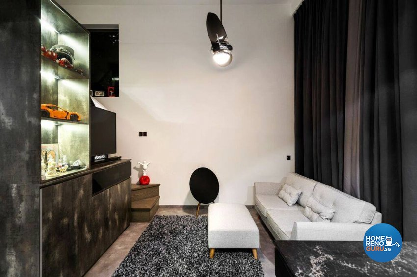Modern, Rustic Design - Living Room - Condominium - Design by Fineline Design Pte Ltd