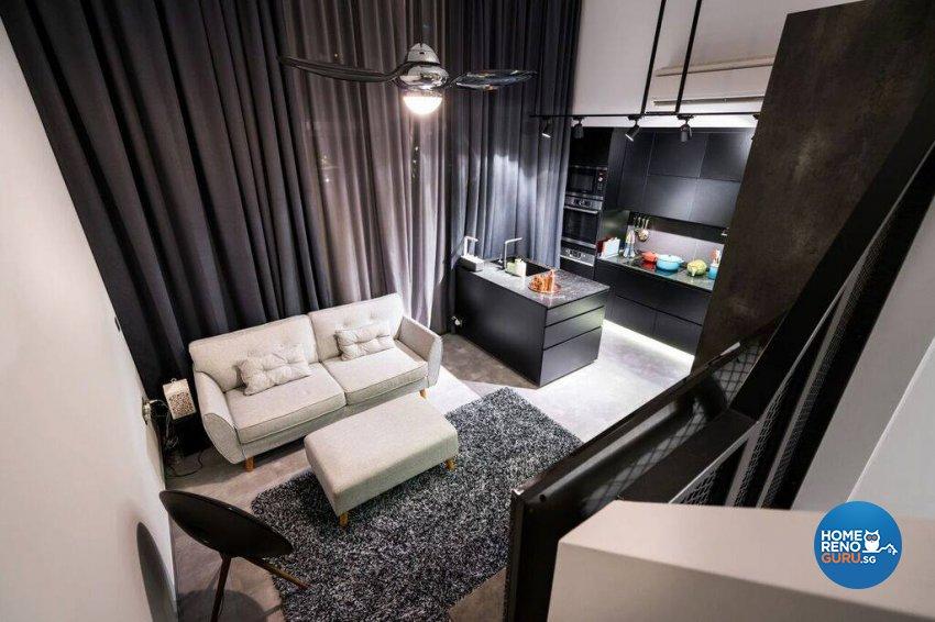 Modern, Rustic Design - Living Room - Condominium - Design by Fineline Design Pte Ltd