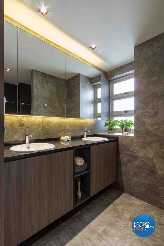 Industrial, Modern Design - Bathroom - Condominium - Design by Fineline Design Pte Ltd