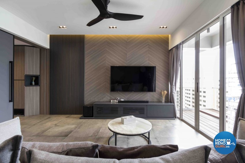 Industrial, Modern Design - Living Room - Condominium - Design by Fineline Design Pte Ltd