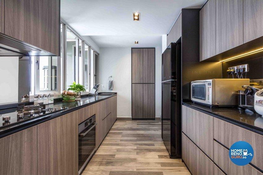 Industrial, Modern Design - Kitchen - Condominium - Design by Fineline Design Pte Ltd