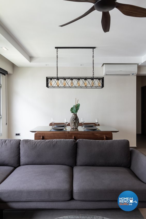 Contemporary, Industrial, Modern Design - Living Room - HDB 5 Room - Design by Fineline Design Pte Ltd