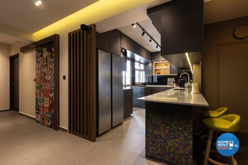 Contemporary, Industrial, Modern Design - Kitchen - HDB 5 Room - Design by Fineline Design Pte Ltd