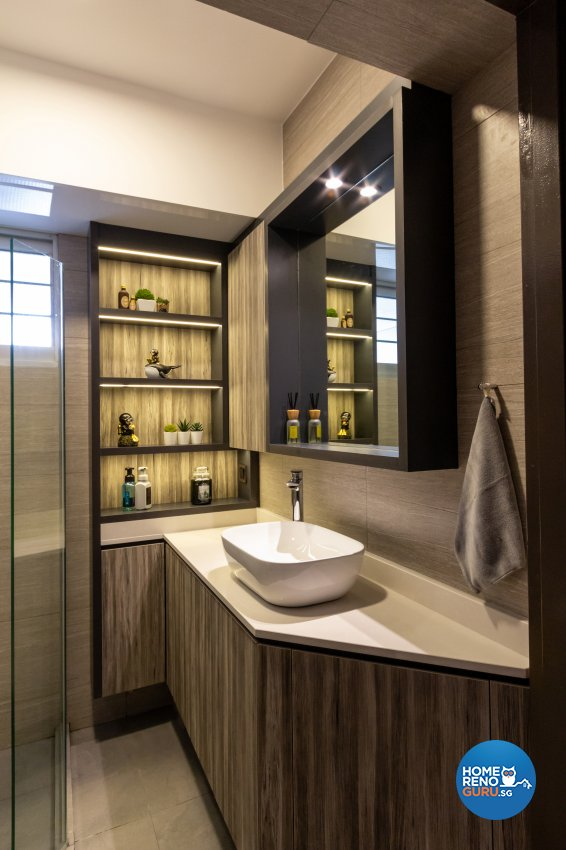 Contemporary, Industrial, Modern Design - Bathroom - HDB 5 Room - Design by Fineline Design Pte Ltd