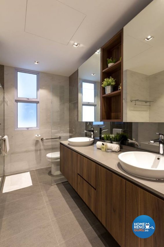 Contemporary, Modern Design - Bathroom - Condominium - Design by Fineline Design Pte Ltd