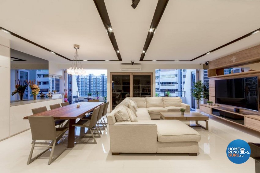 Contemporary, Modern Design - Living Room - Condominium - Design by Fineline Design Pte Ltd