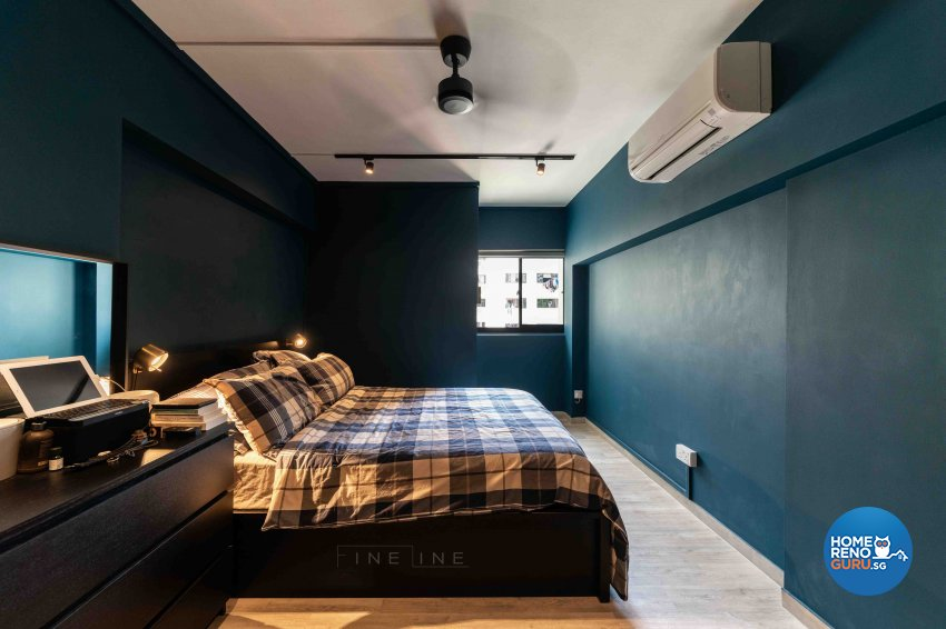 Scandinavian Design - Bedroom - HDB 3 Room - Design by Fineline Design Pte Ltd