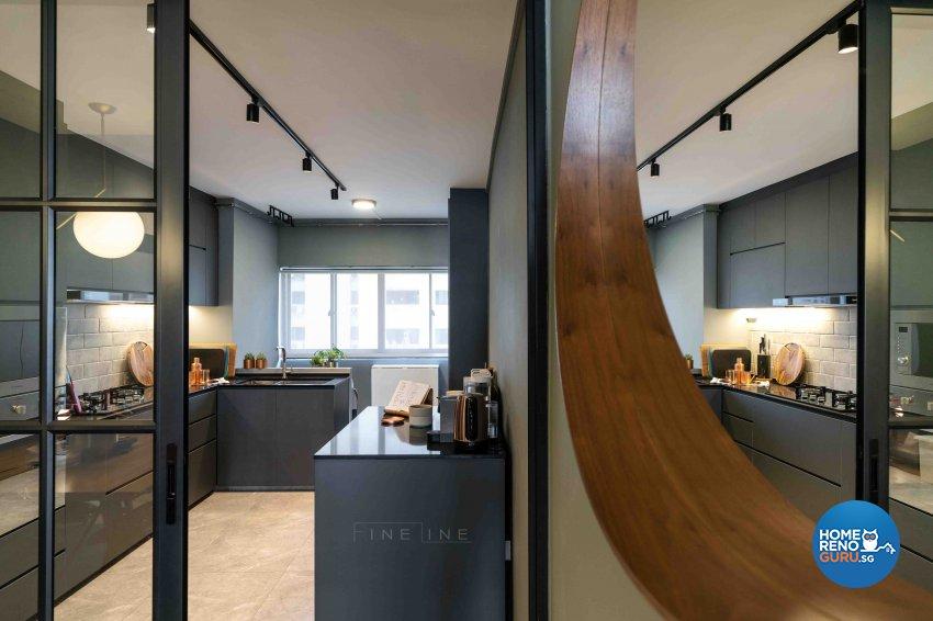 Scandinavian Design - Kitchen - HDB 3 Room - Design by Fineline Design Pte Ltd