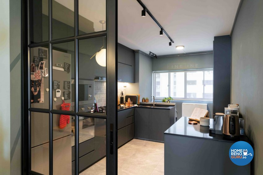 Scandinavian Design - Kitchen - HDB 3 Room - Design by Fineline Design Pte Ltd