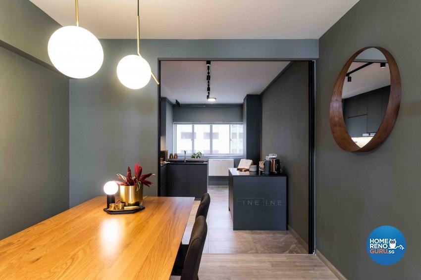 Scandinavian Design - Dining Room - HDB 3 Room - Design by Fineline Design Pte Ltd